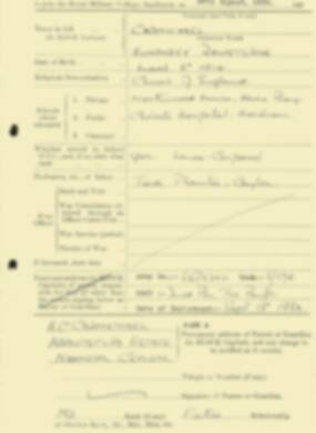 RMC Form 18A Personal Detail Sheets Aug 1934 Intake - page 30