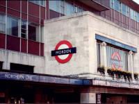 Morden Underground Station sign