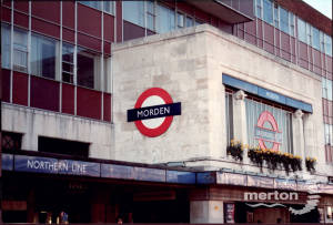 Morden Underground Station sign