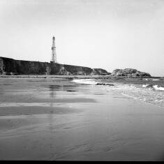 The Drilling Rig From the Beach at Marsden