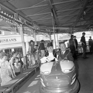 The Mayor on the Dodgems at Hereford May Fair, May 1970