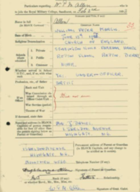 RMC Form 18A Personal Detail Sheets Feb & Sept 1933 Intake - page 3