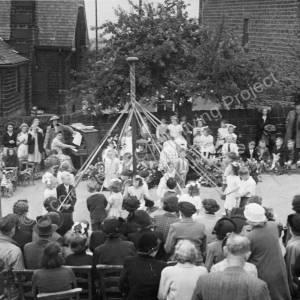 Maypole Dancing Grenoside Junior School 1950's
