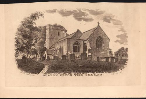 Seaton Church, c1881, Devon