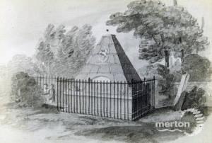 St. Mary's Church, grave, Wimbledon