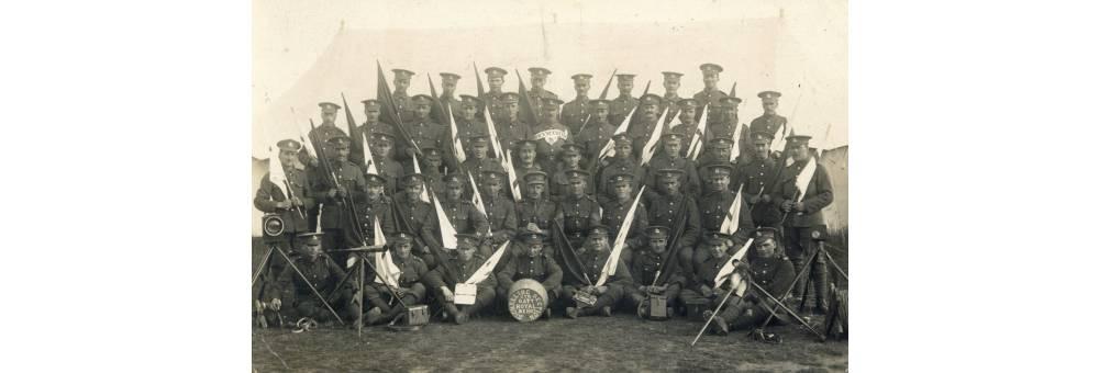 The Signalling Section, Fourth Battalion, Berkshire Regiment, Windmill Hill, Wiltshire, Summer 1916.