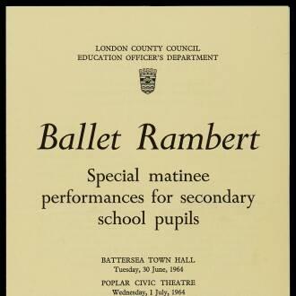London Secondary Schools, June–July 1964