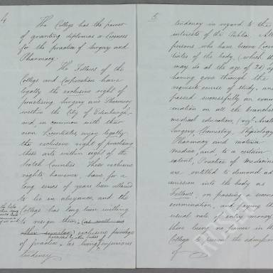 Brief Account of the Royal College and Corporation of Surgeons of Edinburgh (Part 3)