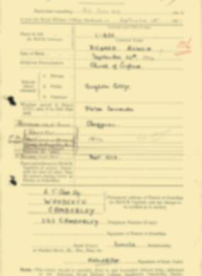 RMC Form 18A Personal Detail Sheets Feb & Sept 1933 Intake - page 170