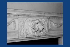 Cannizaro House, Wimbledon: Carved fire surround