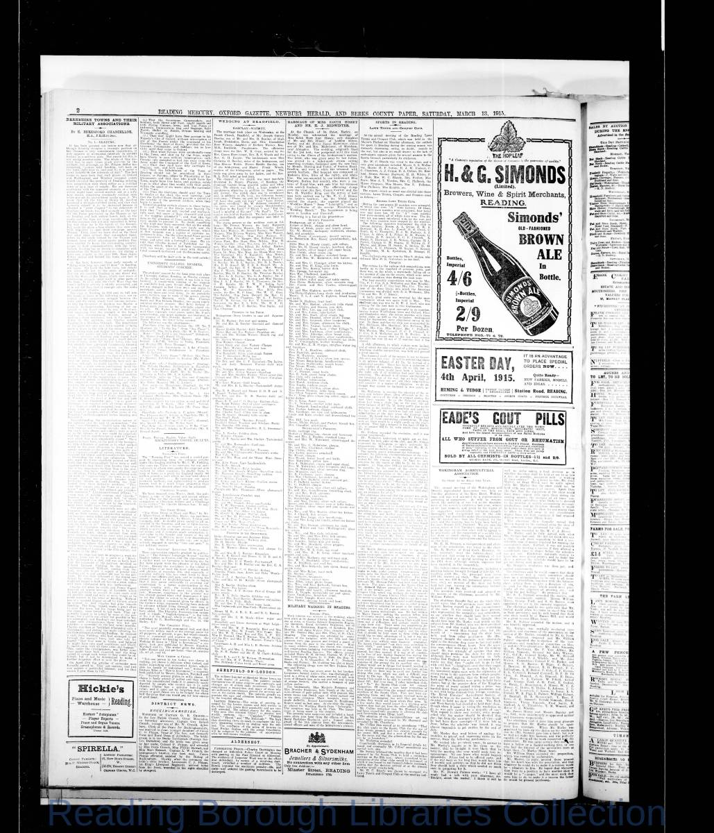 Reading Mercury Oxford Gazette Saturday, March 13, 1915. Pg 2