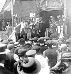Opening ceremony, Mitcham Fair