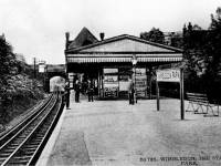 Platform at Wimbledon Park Station