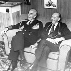 Admiral of the Fleet, Earl Mountbatten of Burma and the Mayor of South Tyneside.
