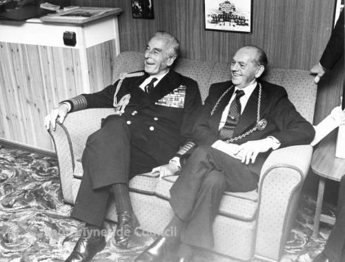 Admiral of the Fleet, Earl Mountbatten of Burma and the Mayor of South Tyneside.