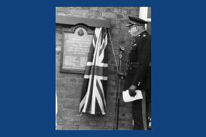 Unveiling of Home Guard memorial, Mitcham