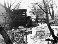 The Liberty Print Works: View of the waterwheel