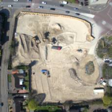 2019 04 April Aerial View Construction of All Saints View Houghton Regis