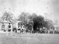 Possibly the 1881 Australians practising in the nets ( possibly including Murdoch )