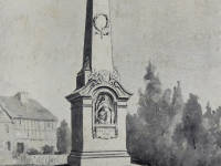 Wimbledon War Memorial. Extract from The Building News