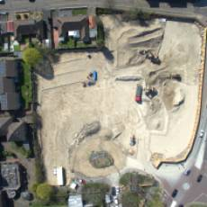 2019 04 April Aerial View Construction of All Saints View 11 Houghton Regis