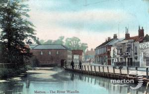 Merton High Street: River Wandle and Mills