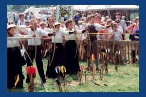Archery demonstration, Conservation Fair, Morden Hall Park