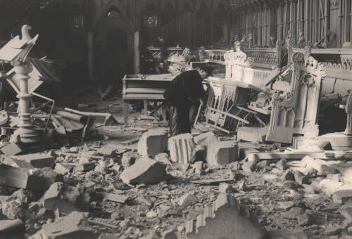 Bomb damage to the Choir, Exeter Cathedral, 1942, Exeter