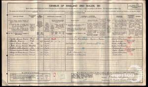 1911 Census - 82 Worple Road, Wimbledon