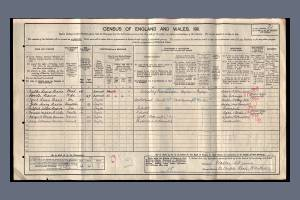 1911 Census - 82 Worple Road, Wimbledon
