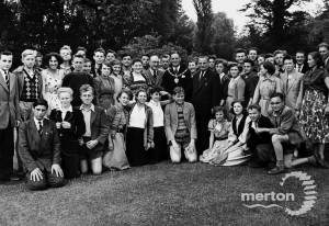 German schoolchildren pictured at Morden Hall