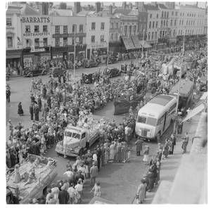 this parade shows how much the middle of Hereford town centre has changed.