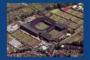Aerial view of the All England Lawn Tennis Club