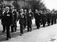 Unveiling of the memorial,  Mitcham Home Guard killed at the Tower Creameries, Mitcham, 1941