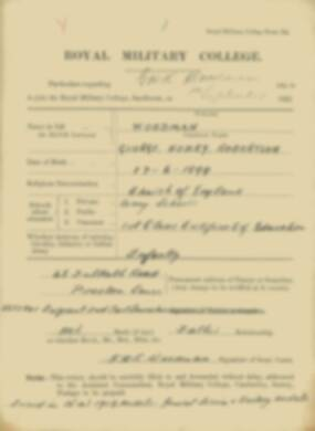 RMC Form 18A Personal Detail Sheets Feb & Sept 1922 Intake - page 319