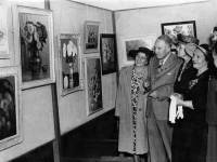 Mayor and Mayoress Opening Art Exhibition