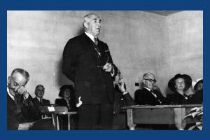 Sherwood County Primary School: Mr F.H Elliot, Chairman of Surrey C.C at opening