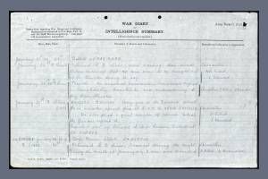 War Diary Extract for 1st Battalion, Worcestershire Regiment - Frederick Stephen Parker