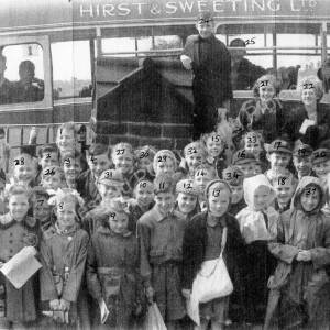 Grenoside School outing to Fountain's Abbey early 1950's.