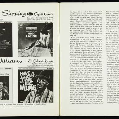 The George Shearing Quartet and Joe Williams, with the Junior Mance Trio, British Tour - September October 1962 009