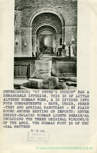 1023 Peterchurch - St Peters Church Interior.jpg