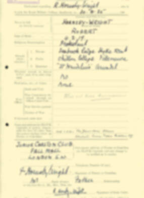RMC Form 18A Personal Detail Sheets Aug 1935 Intake - page 108