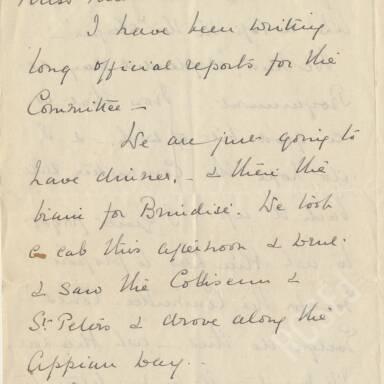 Elsie Inglis to Amy Inglis Simson, April 1915 (Part 3)
