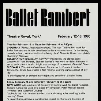Theatre Royal, York, February 1980