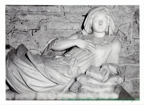 Tomb of Constance Biddulph, Ledbury Church, Herefordshire, d 1706