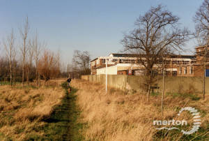 View of a local school as seen from Mitcham Common,