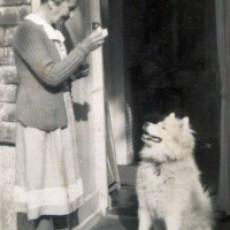 Undated Laura Freeman with her Dog Houghton Regis