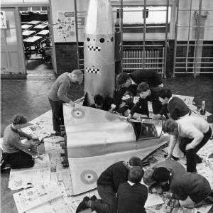 Schoolboys making models, St. Owen's School, 1967