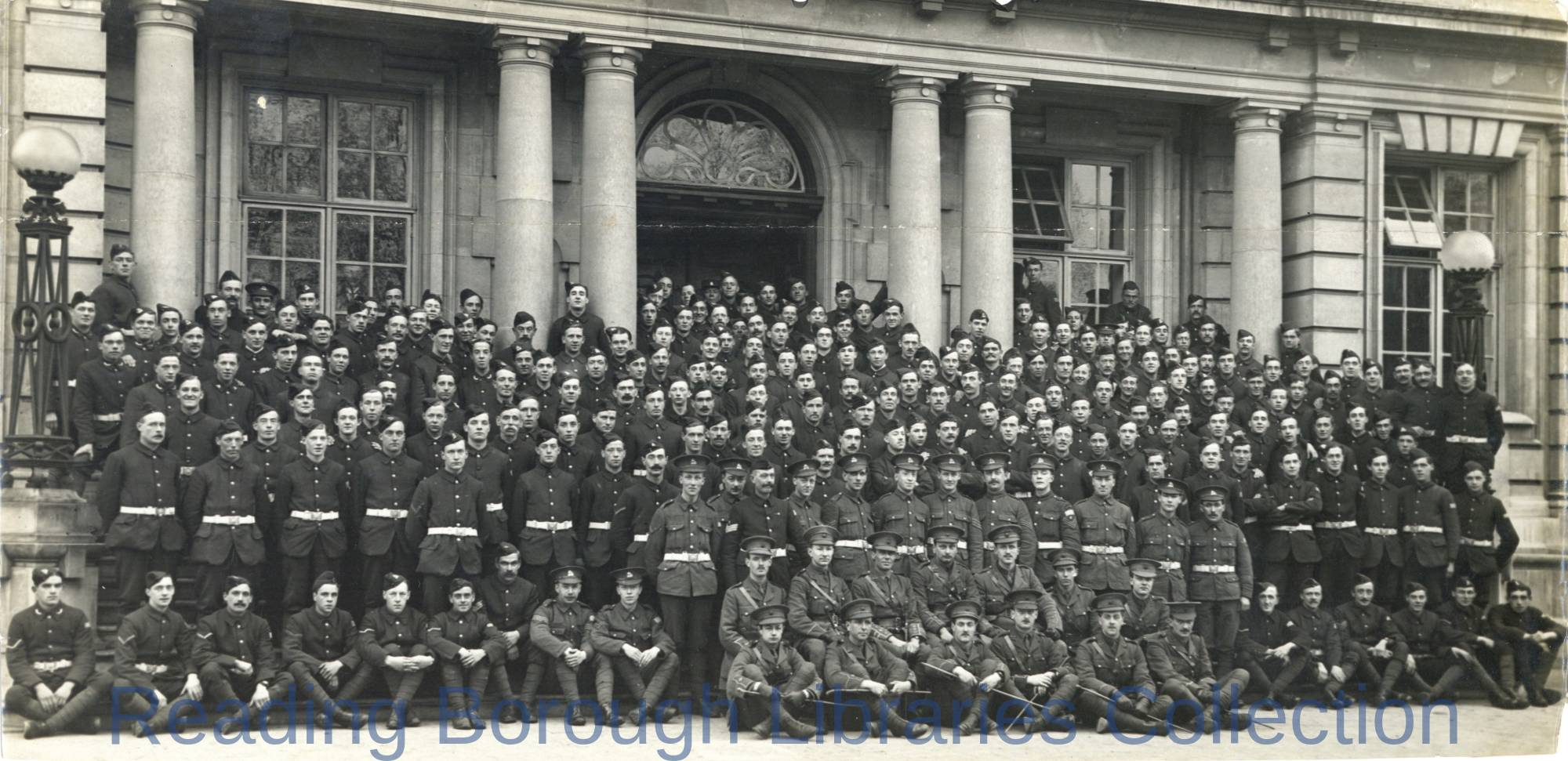 """C"" Company, 7th Battalion, Royal Berkshire Regiment, Shire Hall, The Forbury, Reading, 1915."