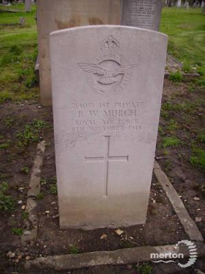 Gravestone of Reginald W Murch